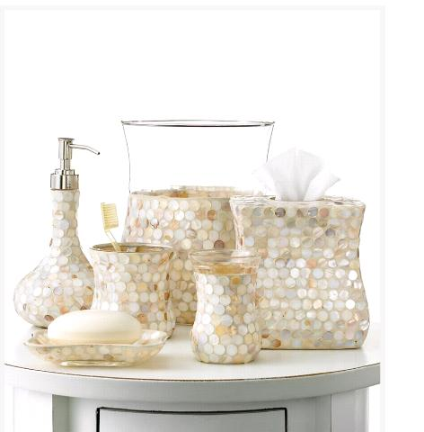 Bathroom Accessories Next glam up your desk from bath accessories! | letia mitchell