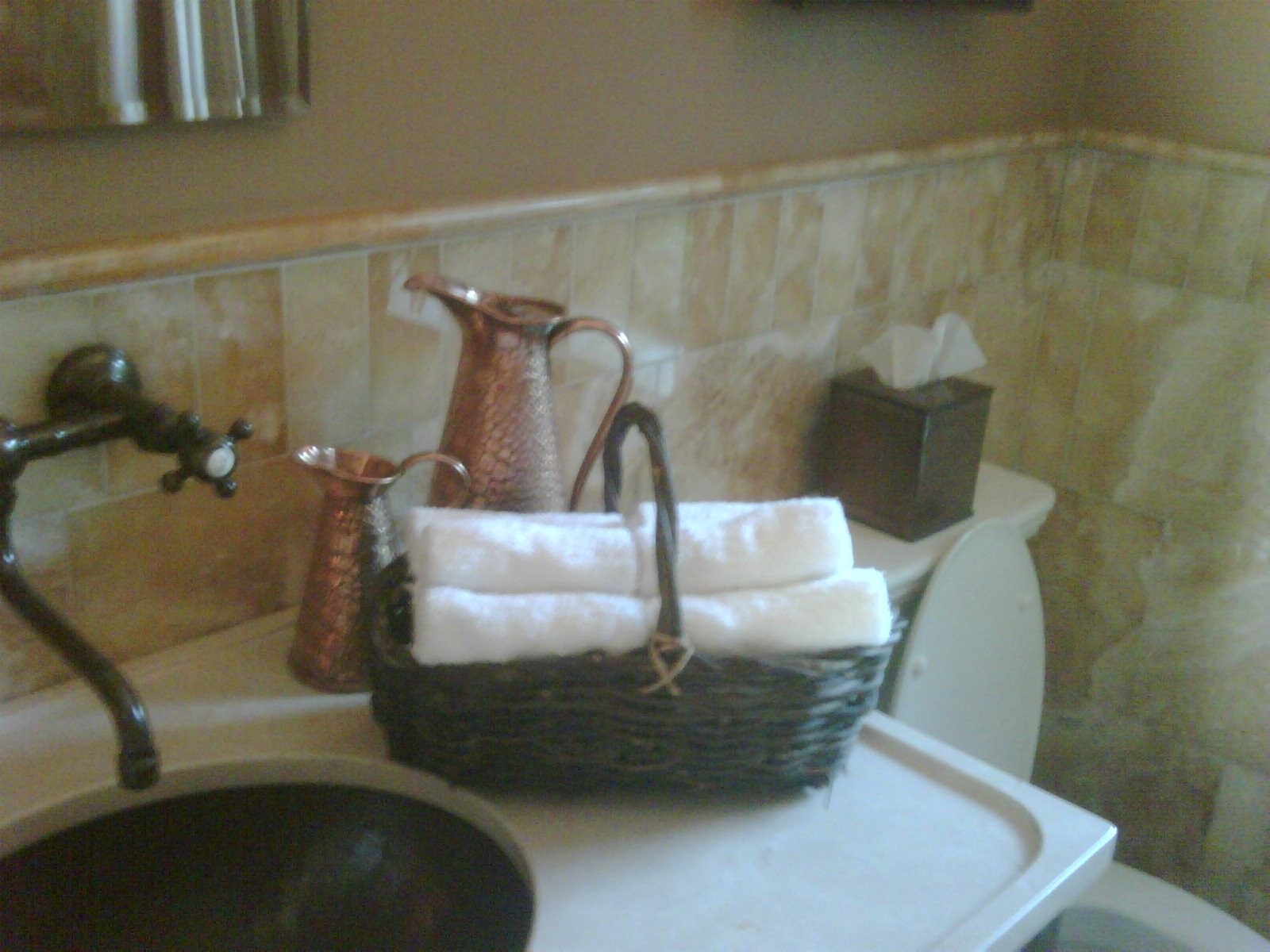 Bathroom Napkins guest bathroom napkins alternative! | letia mitchell lifestyle