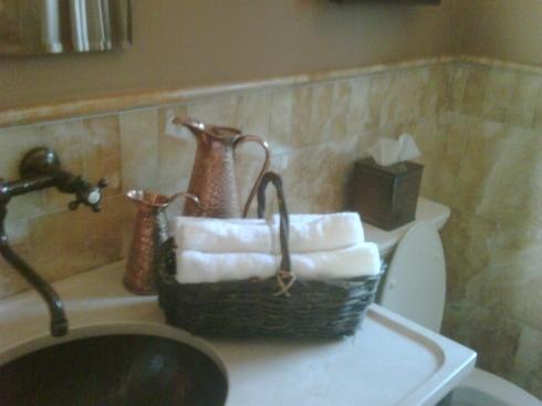 Guest Bathroom Napkins Alternative Letia Mitchell