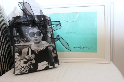 Breakfast@ Tiffany's Gift Bag and Framed D bag