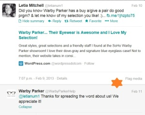 Warby Parker Thank You!
