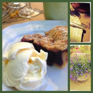 A Summer Staple, Blueberry pie with Vanilla ice cream