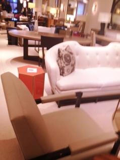 Slipper chair out of Linen