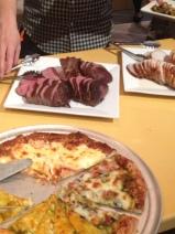 Pizza, rib roast and Pork Loin!