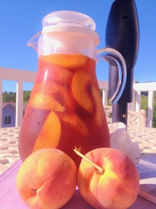 Beautiful Peach Ice Tea!