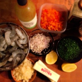 Ingredients for Shrimp Scampi