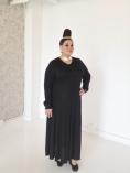 Black V-Neck Maxi Dress