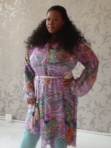 Printed Belted Tunic Dress