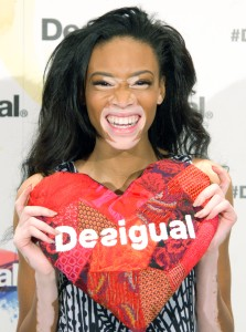 "Winnie Harlow Presented as New Desigual Face for the Spring-Summer 2015 Campaign ""Say Something Nice"""
