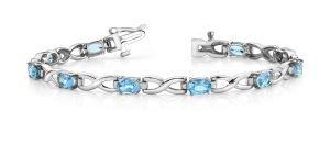 Anjolee™ Wavy  X Oval Stone Bracelet