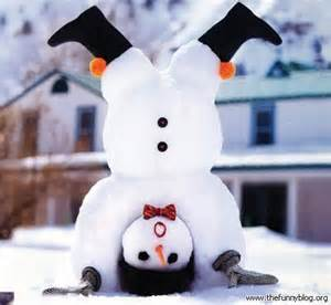 Can your snowman do a merry handstand!